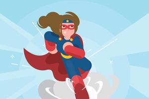 Super Frau Illustration