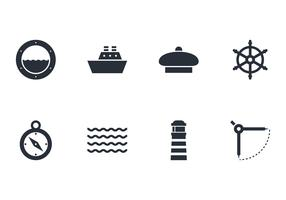 Packung mit nautischen Symbol Vektoren