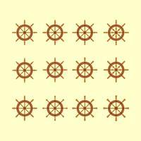 Schiffe Rad Icons Sammlung vektor