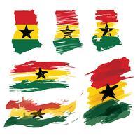ghana karta grov färgfri vektor