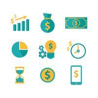 Freie Finanz- und Einnahmen-Ikonen vektor