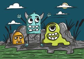 Vollmond-Monster-Vektoren