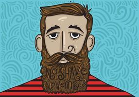 No Shave November Beard Vector