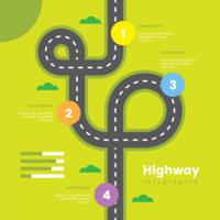 Autobahn Infografik vektor