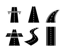 Highway-Vektor-Set vektor