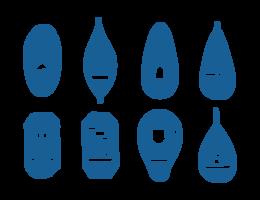 Schneeschuh-Ikonen-Vektor