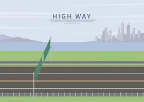 Fri Highway Side Illustration vektor