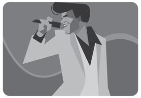 James Brown Singender Vektor