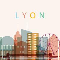 Silhouette der Stadt Lyon vektor