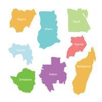 Karte von Land in Afrika Vector Pack