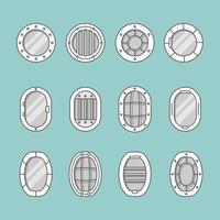 Schiffsfenster-Symbole vektor