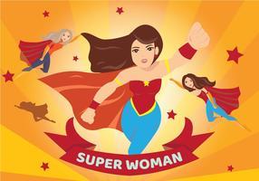 Superwoman Abzeichen Hintergrund vektor