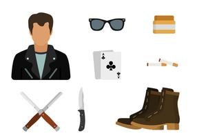 Plana Greaser Style Essential Vectors