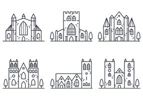 Abbey Lineares Symbol vektor