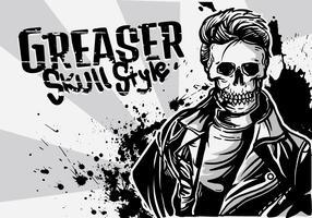 greaser boy illustration vektor