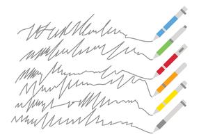 Marker und Squiggle-Linien-Vektoren vektor