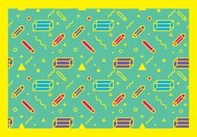 squiggle mönster fri vektor