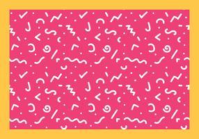 squiggle linje sömlös mönster fri vektor