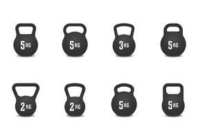 Realistische Kettle Bell Icon
