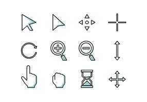 Mus över rad ikon Gratis vektor