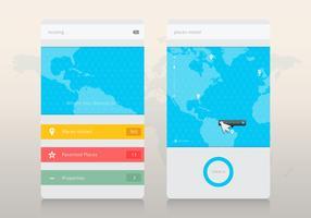 Maus über Ort / GPS-Programm. Website-Design-Menü. vektor