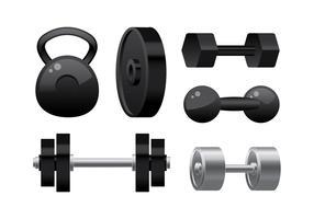 Gewichtheben-Ausrüstung-freier Vektor