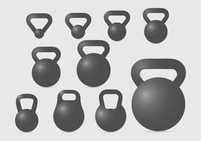 kettle bell set vektor