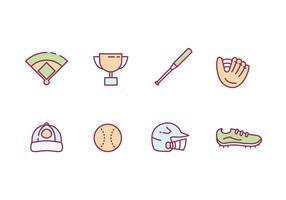 Softball-Icons vektor