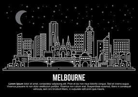 Melbourne City-Vektor-Illustration vektor