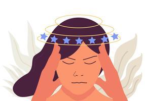 Vertigo-Kopfschmerz-Vektor
