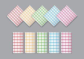 Bright Plaid Napkin Vectors