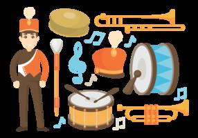 Marching Band Ikoner Vector
