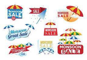 monsun försäljning banner vektor