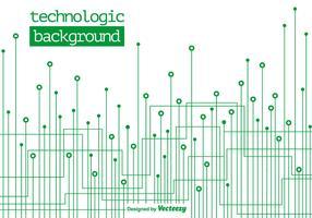 Technologischer grüner Hintergrund - Vektor