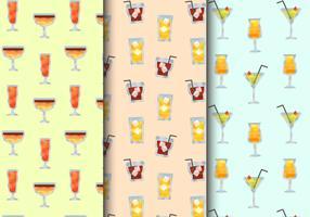 Gratis Seamless Cocktail Drinks Patterns vektor