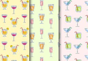 Kostenlose nahtlose Cocktail-Drinks-Muster vektor
