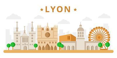 Freie Lyon Wahrzeichen Vektor