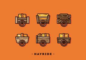 Gratis Enkel Hayride Vector