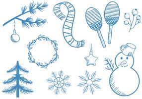 Freie Weinlese-Winter-Vektoren