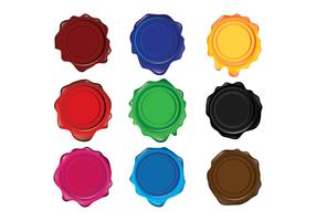 Verschiedene Farben Wachssiegel vektor
