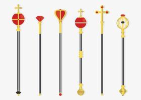 royal sceptres vektor