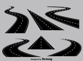 Perspektive Highway Sammlung Vektor