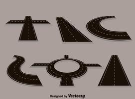 Landstraßen-Straßen-Sammlung vektor