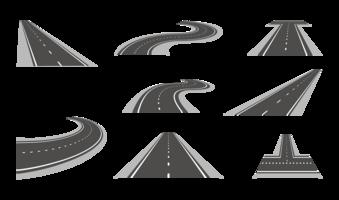 motorvägsvektorer vektor