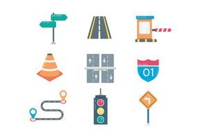 Straßen- und Verkehrssymbole vektor
