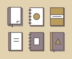 Böcker Icon Set vektor