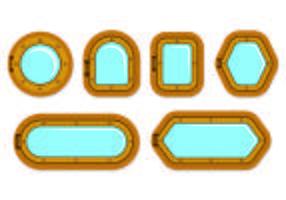Set von Bullauge-Symbol