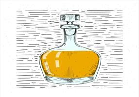 Freie Hand gezeichnete Getränk-Illustration