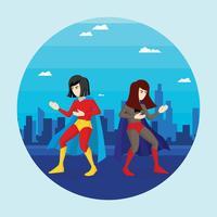 Freie Superfrau-Illustration vektor