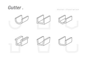 Gutter-Vektor-Illustration vektor